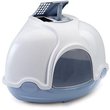 IMAC Krytý kočičí záchod rohový s filtrem 52 × 52 × 44,5 cm modrý (8021799413682)