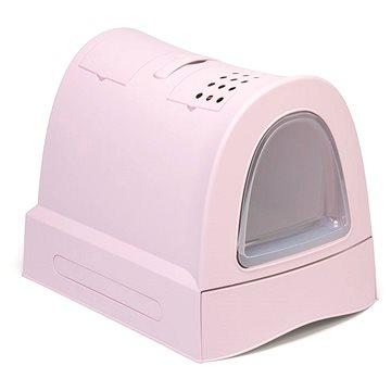 IMAC Krytý kočičí záchod s výsuvnou zásuvkou 40 × 56 × 42,5 cm růžový (8021799414658)