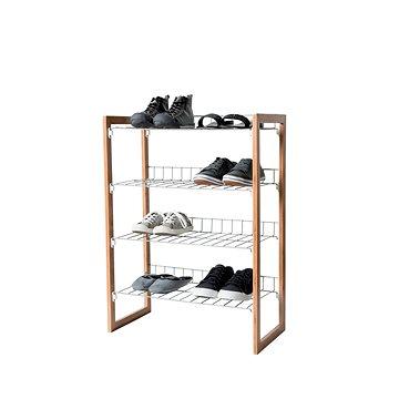 Compactor čtyřpatrový botník Akira RAN6030 na 12 párů bot, kaučukové dřevo (3370910066159)