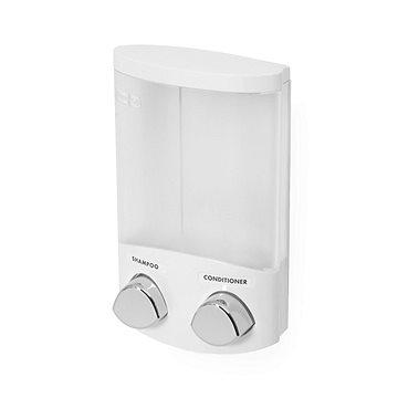Compactor DUO RAN6015 dávkovač mýdla / šampónu nebo desinfekce na zeď, bílý plast, 2x 310 ml (3370910066005)