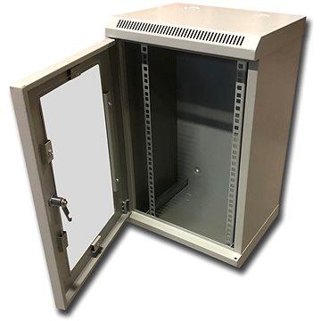 "Datacom 10"" 12U/280 mm (sklo) šedý (7013)"