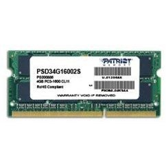 Patriot SO-DIMM 4GB DDR3 1600MHz CL11 Signature Line (PSD34G16002S)