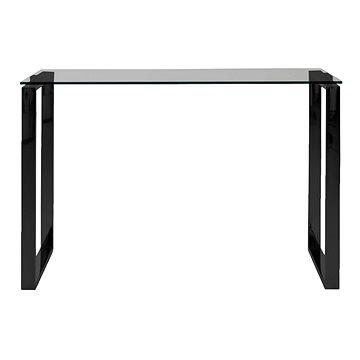 Jídelní / odkládací stůl Tracy, 110 cm, kouřové sklo/černá (A1003126)