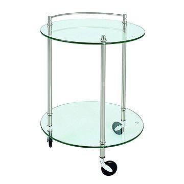 Servírovací stolek Jitte, 63 cm, stříbrná (HA00847)