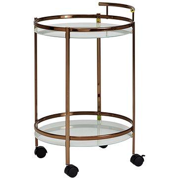 Brüxxi Servírovací stolek Hariet, 80 cm, zlatá (SP1000948)
