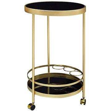 Brüxxi Servírovací stolek Helm, 76 cm, zlatá / černá (SP1000953)