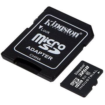 Kingston MicroSDHC 32GB Industrial Temp + SD adaptér (SDCIT/32GB)