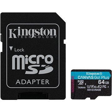 Kingston MicroSDXC 64GB Canvas Go! Plus + SD adaptér (SDCG3/64GB)