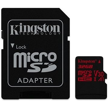 Kingston MicroSDHC 32GB Canvas React + SD adaptér (SDCR/32GB)