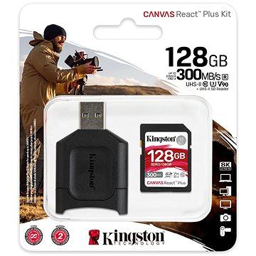 Kingston SDXC 128GB Canvas React Plus + čtečka karet (MLPR2/128GB)