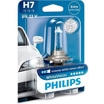 PHILIPS H7 WhiteVision, 55W, patice PX26d (12972WHVB1)