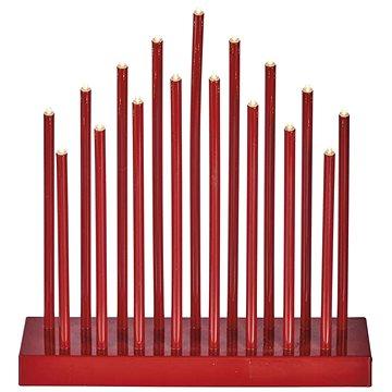 EMOS LED vánoční dekorace – červený svícen, 3×AA, teplá b., čas. (1534210900)