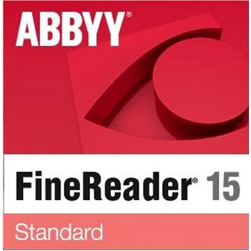 ABBYY FineReader 15 Standard EDU (elektronická licence) (FR15SW-FEPL-X)