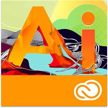 Adobe Illustrator Creative Cloud MP ML (vč. CZ) Commercial (12 měsíců) (elektronická licence) (65297603BA01A12)