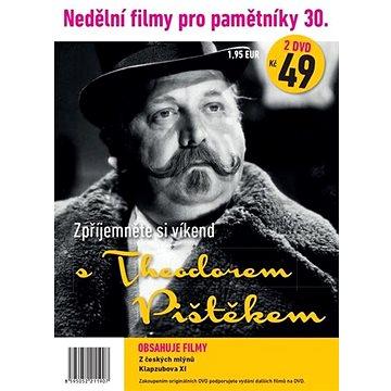 Nedělní filmy pro pamětníky 30: Theodor Pištěk (2DVD) - DVD (1190)