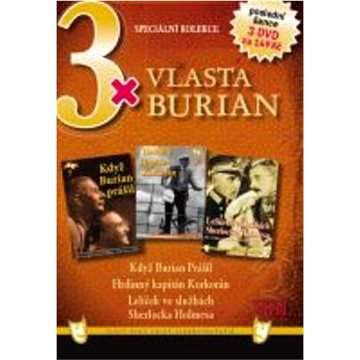 3x Vlasta Burian VIII: Když Burian prášil, Hrdinný kapitán Korkorán, Lelíček ve službách S. Holmesa