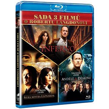 3x Dan Brown: Inferno, Andělé a démoni, Šifra mistra Leonarda (3BD) - DVD (BD001503)