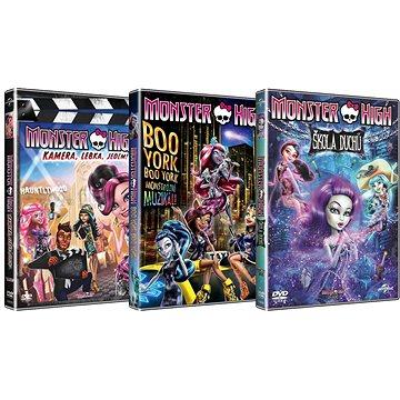 3x DVD Monster High: Kamera, lebka, jedem! Boo York Škola duchů (3DVD) - DVD (D007762)