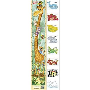 Dětský metr (žirafa + barvy) (978-80-7228-751-2)
