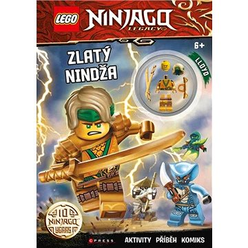LEGO NINJAGO Zlatý nindža: Aktivity, příběh, komiks, obsajuje minifigurku (978-80-264-3485-6)