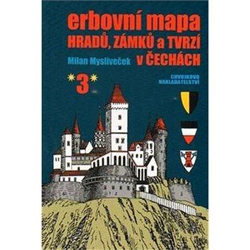 Erbovní mapa hradů, zámků a tvrzí v Čechách 3 (978-80-86183-70-1)