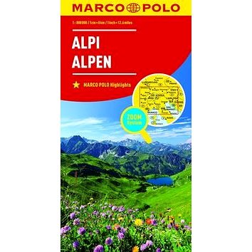 Kniha Alpy Alpi Alpen 1:800 000 (9783829738200)