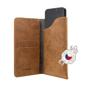FIXED Pocket Book pro Apple iPhone 6/6S/7/8/SE 2020 hnědé (FIXPOB-100-BRW)