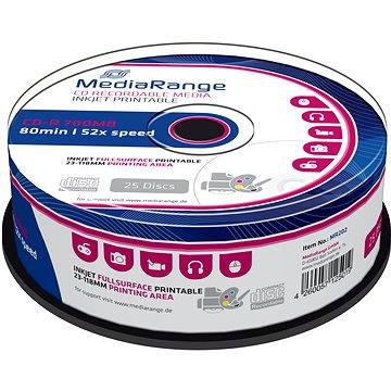 Mediarange CD-R 700 MB 52x spindl 25 ks Inkjet Printable (MR202)