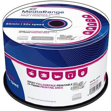 Mediarange CD-R 700 MB 52x spindl 50 ks Inkjet Printable (MR208)