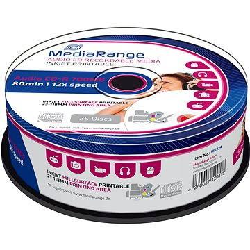 Mediarange CD-R AUDIO 700 MB 12x spindl 25 ks Inkjet Printable (MR224)