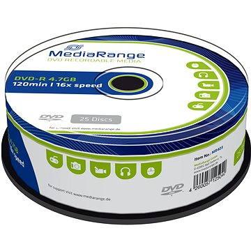 Mediarange DVD-R 4.7 GB 16x spindl 25 ks (MR403)