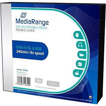 Mediarange DVD+R 8.5 GB 8x Dual Layer slimcase 5 ks (MR465)