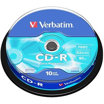 VERBATIM CD-R 700MB, 52x, spindle 10 ks (43437)