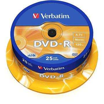 VERBATIM DVD-R AZO 4.7GB, 16x, spindle 25 ks (43522)