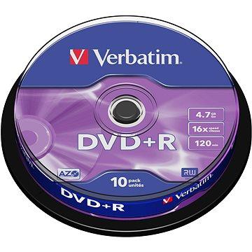 VERBATIM DVD+R AZO 4.7GB, 16x, spindle 10 ks (43498)