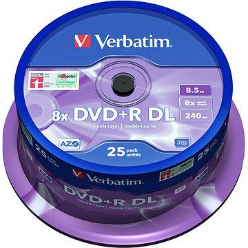 VERBATIM DVD+R DL AZO 8.5GB, 8x, spindle 25 ks (43757)