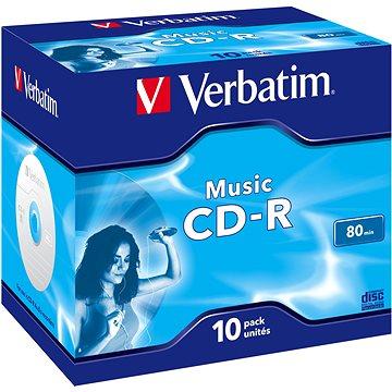 VERBATIM CD-R AUDIO 80MIN, 16x, jewel case 10 ks (43365)