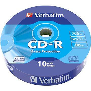 VERBATIM CD-R 700MB, 52x, wrap 10 ks (43725)