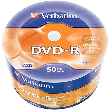 VERBATIM DVD-R AZO 4.7GB, 16x, wrap 50 ks (43788)