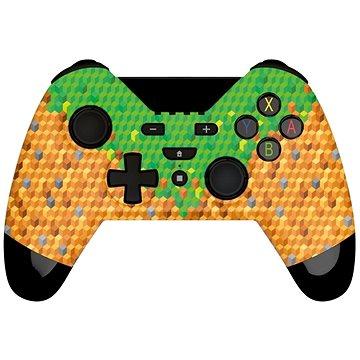 Gioteck WX-4 gamepad PS3/PC zeleno-hnědý (WX4NSW-22-MU)