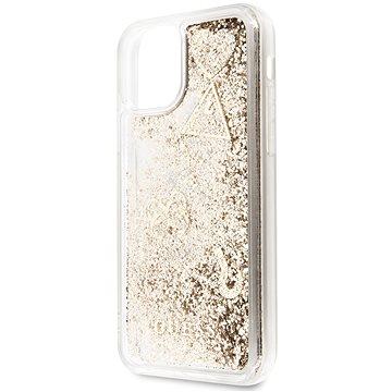 Guess Glitter Hearts pro iPhone 11 Gold (EU Blister) (3700740461884)