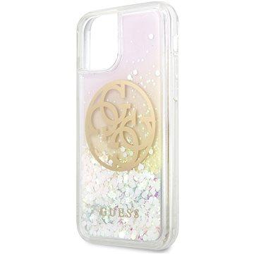 Guess Glitter Circle Zadní Kryt pro iPhone 11 (3700740471616)
