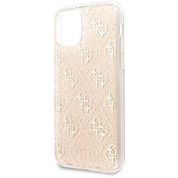 Guess 4G Glitter Zadní Kryt pro iPhone 11 Gold (3700740469187)