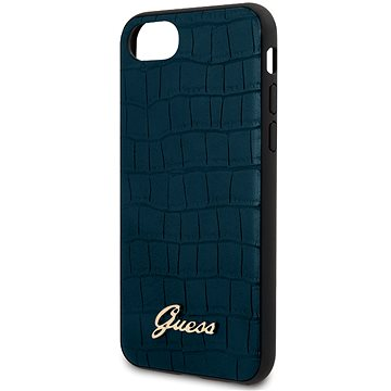 Guess Croco pro iPhone 8/SE 2020 Blue (3700740475706)
