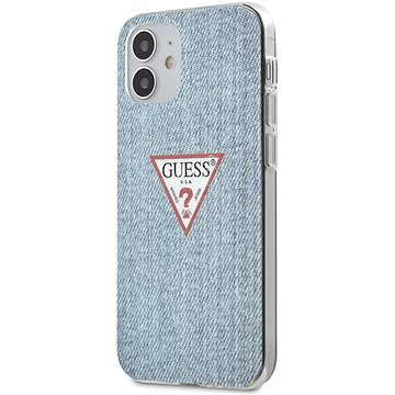 Guess PC/TPU Denim pro Apple iPhone 12 Mini Light Blue (3700740481844)