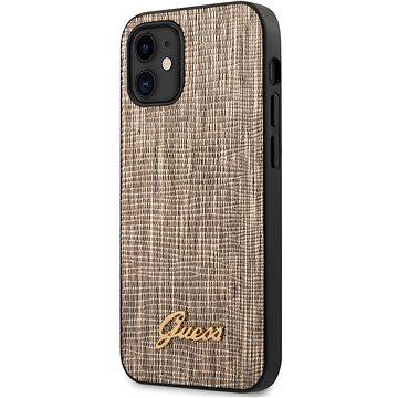 Guess Lizard pro Apple iPhone 12 Mini Gold (3700740480915)