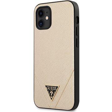 Guess Saffiano V Stitch pro Apple iPhone 12 Mini Gold (3700740480168)
