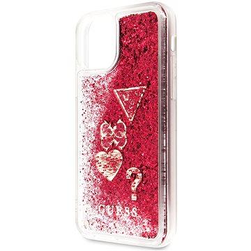Guess Glitter Hearts pro iPhone 11 Rapsberry (EU Blister) (3700740461914)