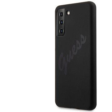 Guess Silicone Vintage zadní Kryt pro Samsung Galaxy S21+ Black (3700740496046)