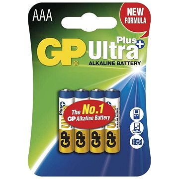 GP Ultra Plus Alkaline LR03 (AAA) 4ks v blistru (1017114000)